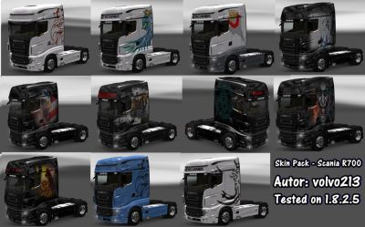 2014-01-26-Scania R700 Skin-Pack by volvo213-1s